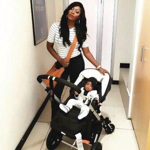 Tiwa and her baby