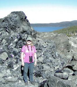 Siobhan at Big Obsidian Flow