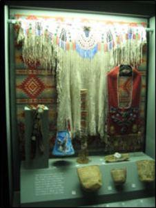 Dress & baskets Warm Springs Museum