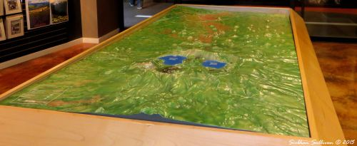 3-d map of volcanoes in Central Oregon