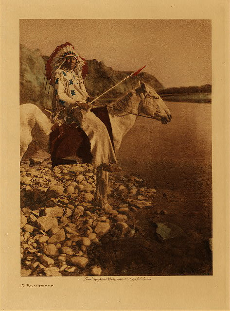 A Blackfoot by Edward S. Curtis. 1926.