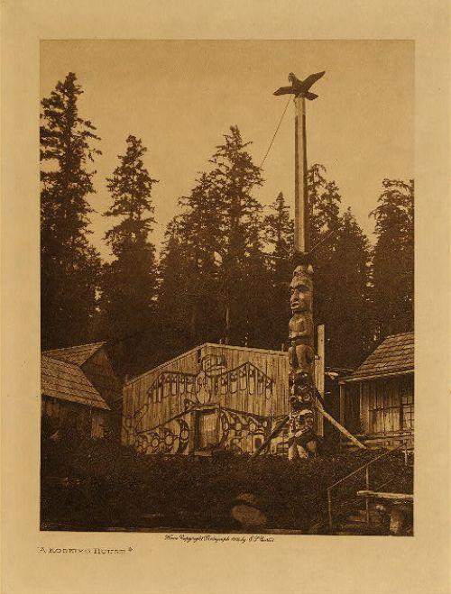 Edward S. Curtis - A Koskimo House. 1914.