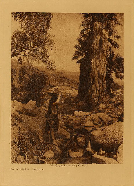 Curtis photo techniques Andres Cañon by Edward S. Curtis. 1924.