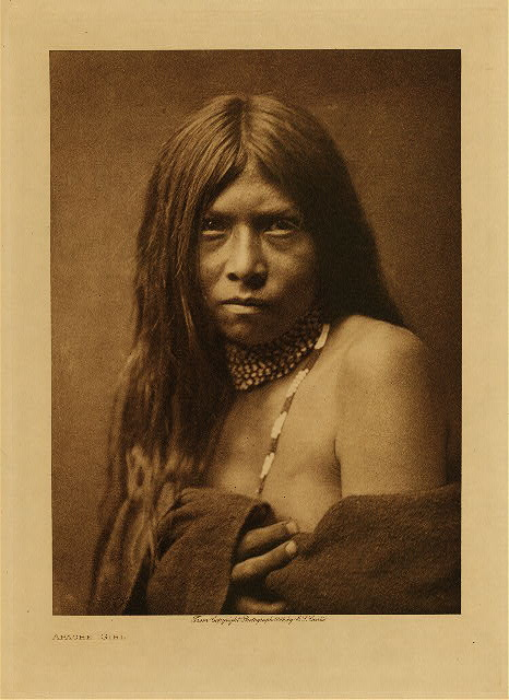 Apache girl by Edward S. Curtis. 1906.