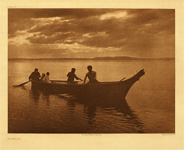 Homeward by Edward S. Curtis. 1898.
