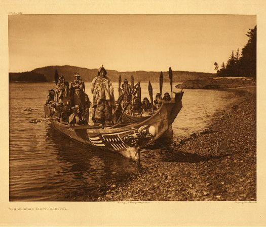 Edward S. Curtis - Wedding party - Qagyuhl 1914.
