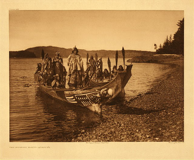 Wedding party - Qagyuhl by Edward S. Curtis. 1914.