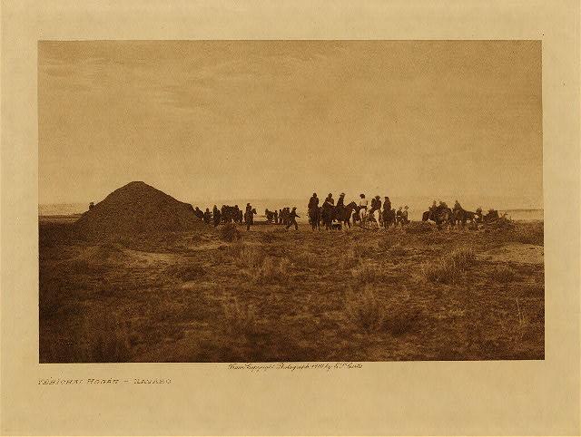 Yebichai Hogan - Navaho by Edward S. Curtis. 1904.