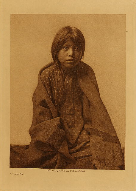 A Taos girl by Edward S. Curtis. 1905.