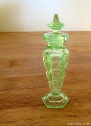 Damaged antique perfume bottle
