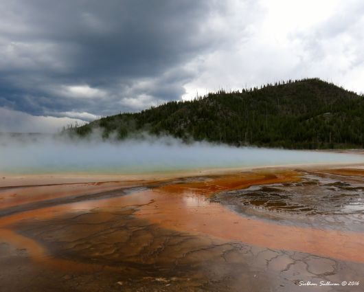 Grounded Notice everything at Grand Prismatic Spring Yellowstone NPk