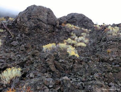 "Giant lava ""snowballs"""