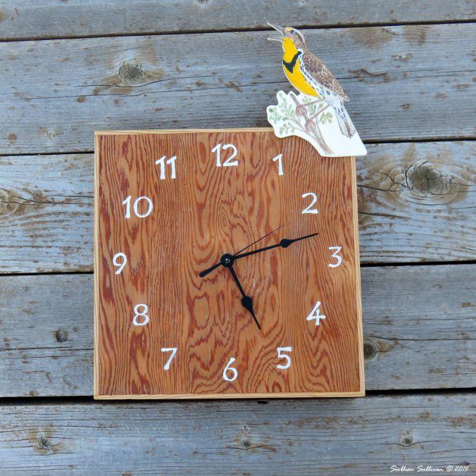 Western Meadowlark Clock