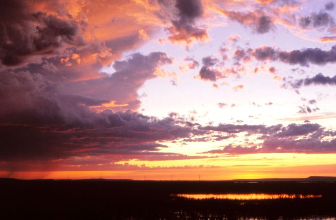 Benson Boat Landing Sunset at Malheur NWR May1982 SiobhanSullivan