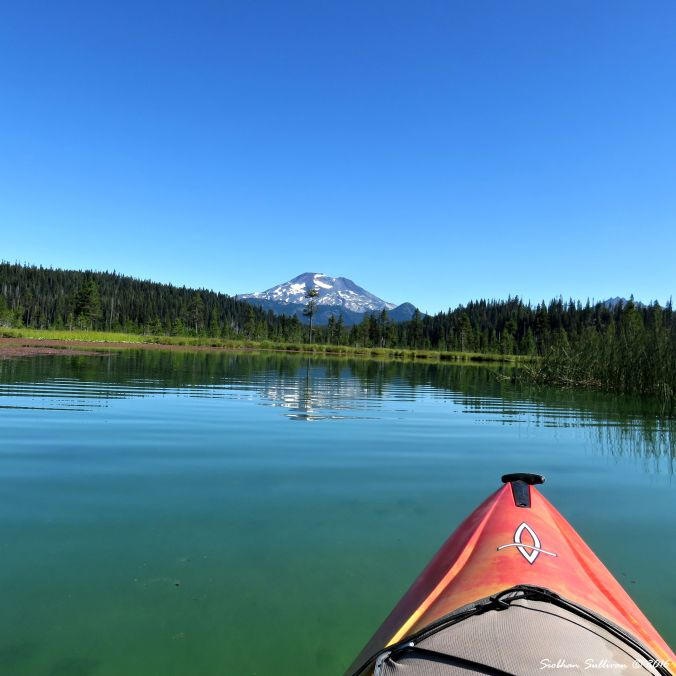 The view from a kayak on Hosmer Lake, Oregon 10Aug2016