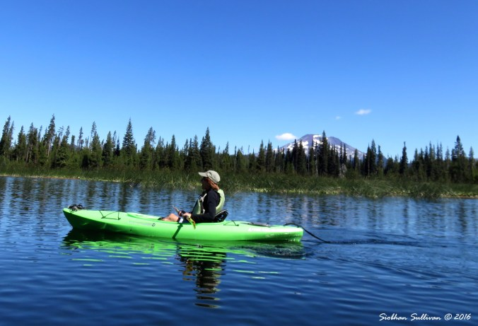 Kayaking at Hosmer Lake, Oregon
