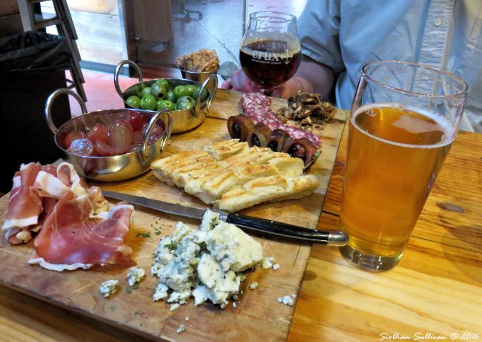 Snacks at Crux Fermentation Project, Bend, Oregon 26Oct2016