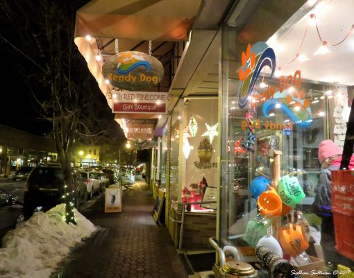 Street scene at First Friday in Bend, OR 3Feb2017