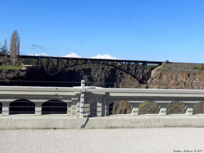 View from the Crooked River High Bridge looking west at Peter Skene Ogden Scenic Viewpoint 3Apr2017