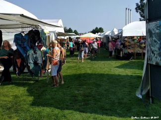 Booths at Art in the High Desert 2017 in Bend, Oregon