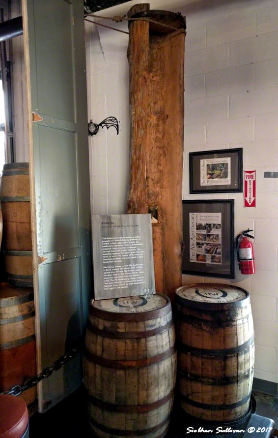 Log used in the brewing process at Ale Apothecary, Bend, Oregon 31August2017