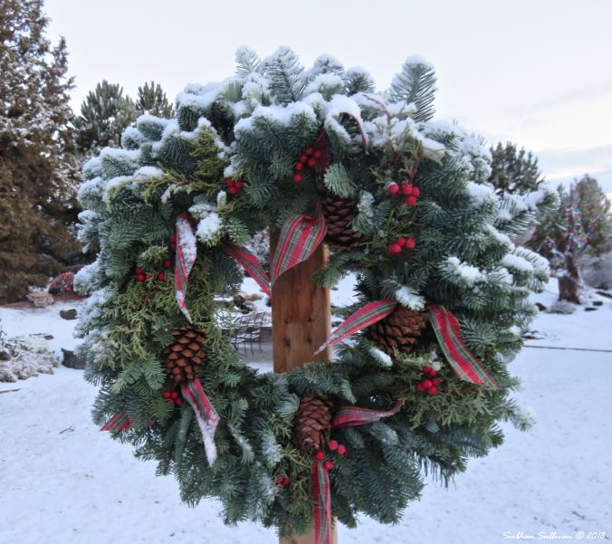 Nature's Icing on a wreath in Bend, Oregon 2018