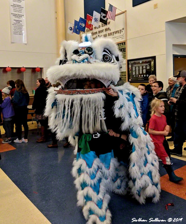 Blue lion at Celebration 13 3March2019