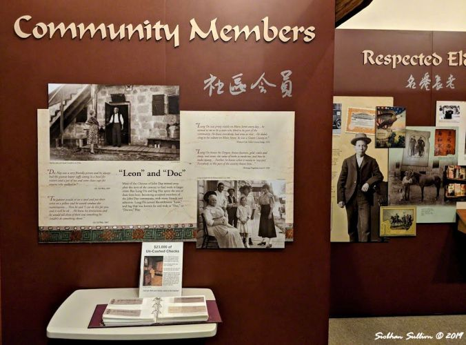 Visitor center display about how important Ing Hay and Lung On were to the community, John Day, OR 26October2018