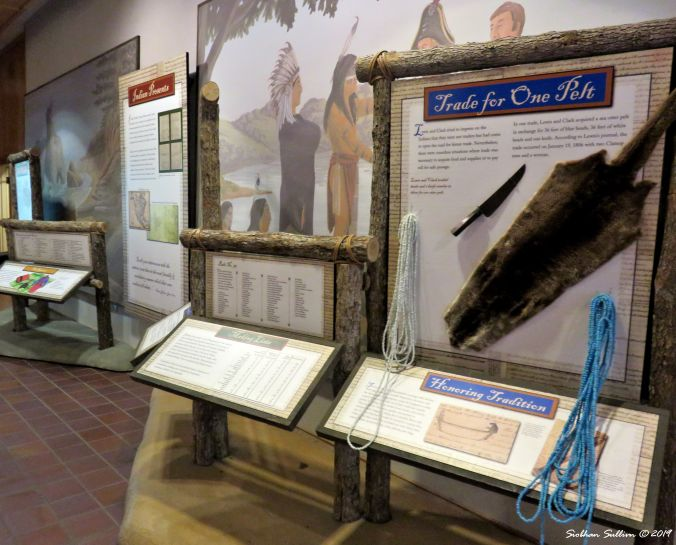 Lewis & Clark display, Gorge Discovery Center, The Dalles, Oregon 16October2017