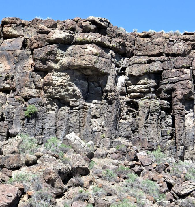 Rock formation at Malheur NWR, Oregon 8April2016