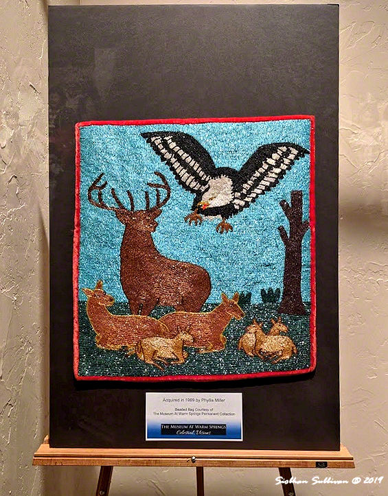 Deer & eagle beaded bag, Warm Springs, Oregon 25 October2019