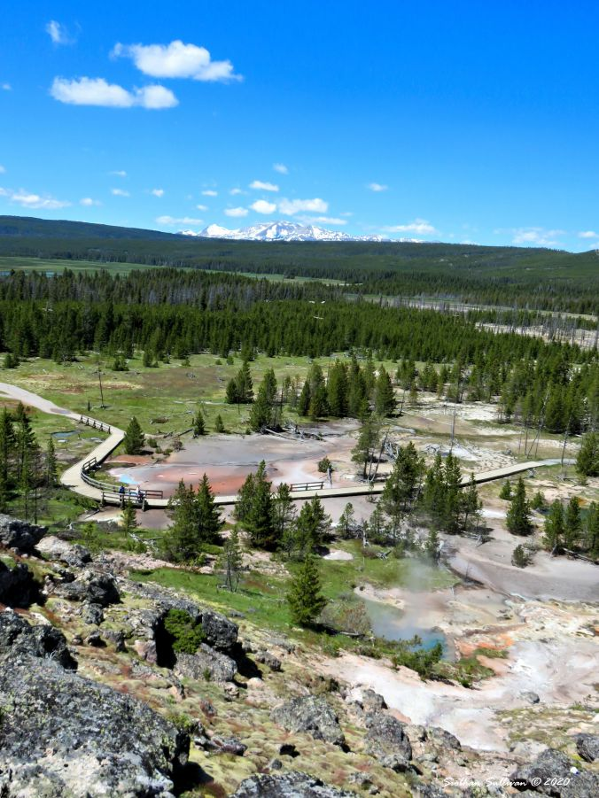 Artists' Paintpots Trail in Yellowstone National Park, Wyoming 2 June 2018