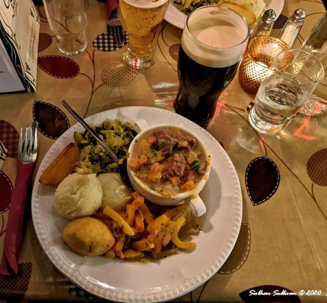 Irish Stew & Brew at the Quays in Galway, Galway County, Ireland 2March2020