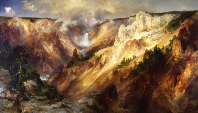 Thomas Moran 1872 Painting of Yellowstone River. Smithsonian
