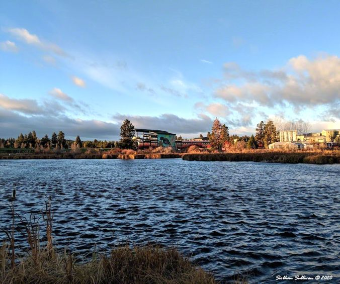 View of amphitheater in Bend, Oregon November 2018