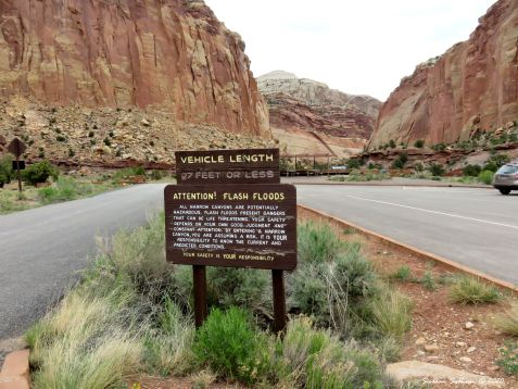 Sign at Capitol Reef National Park, Utah May 2017