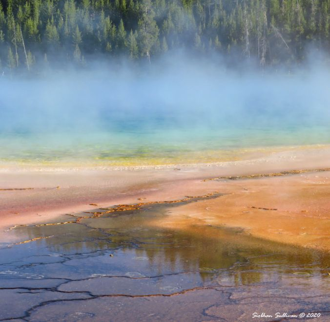 Grand Prismatic Hot Spring, Yellowstone June 2018