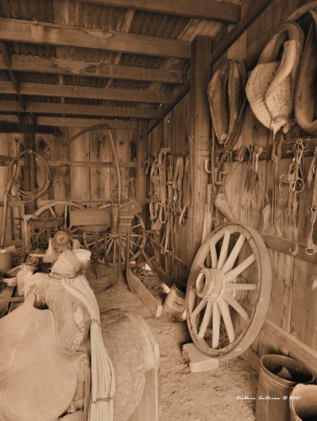 Fort Rock Blacksmith sepia tone