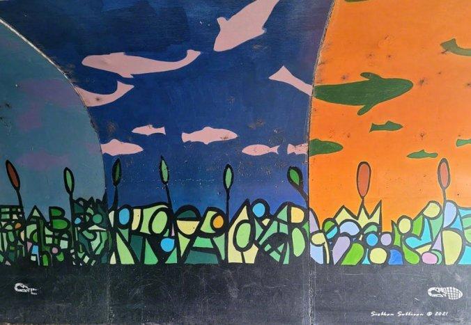 Fish paintings in Bend