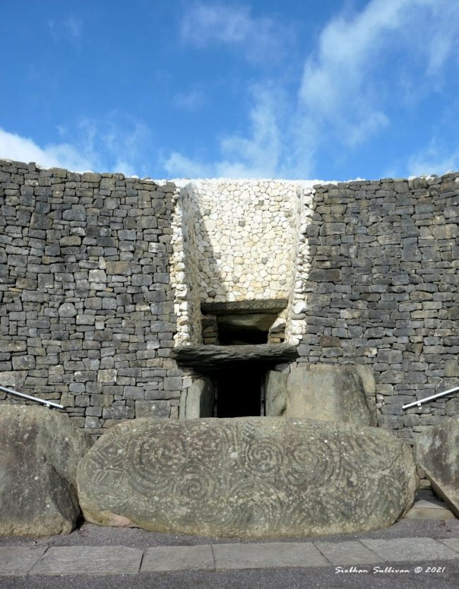 Entranceway at Newgrange March 2020