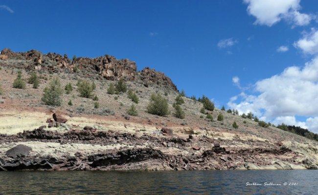 Many layered rock