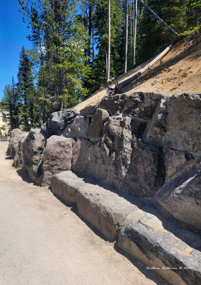 Rocky seating in Yellowstone
