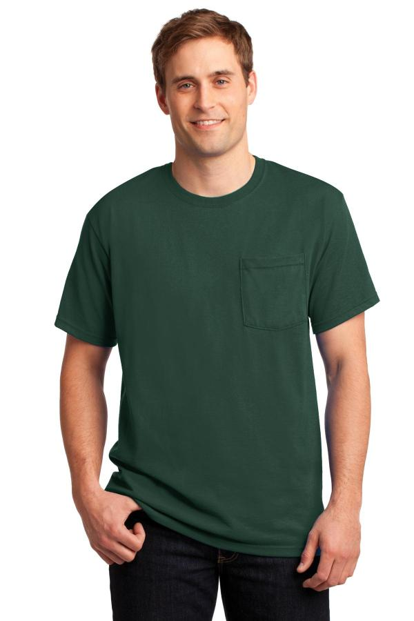 JERZEES -  Dri-Power Active 50/50 Cotton/Poly Pocket T-Shirt.  29MP