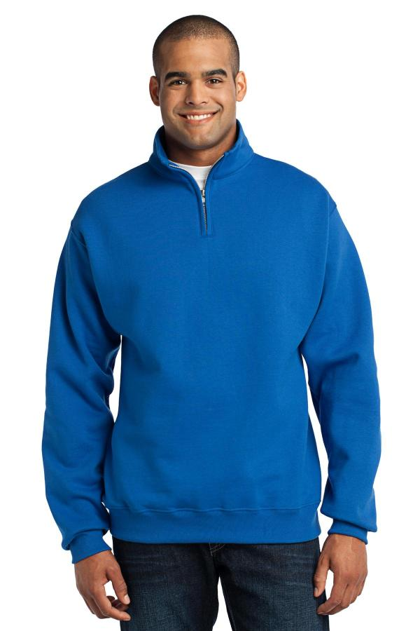 JERZEES - NuBlend 1/4-Zip Cadet Collar Sweatshirt. 995M