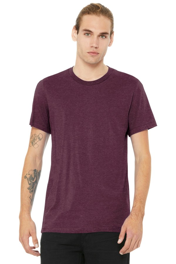 BELLA+CANVAS  Unisex Heather CVC Short Sleeve Tee. BC3001CVC