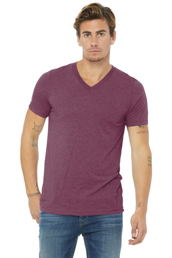 BELLA+CANVAS  Unisex Triblend Short Sleeve V-Neck Te. BC3415