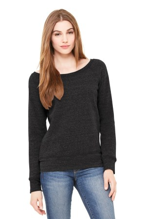 BELLA+CANVAS  Women's Sponge Fleece Wide-Neck Sweatshirt. BC7501