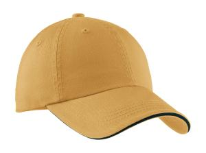Port Authority Sandwich Bill Cap with Striped Closure.  C830