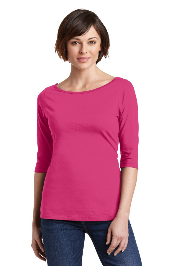 District Women's Perfect Weight 3/4-Sleeve Tee. DM107L