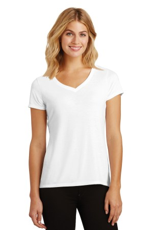 District Women's Perfect Tri V-Neck Tee. DM1350L
